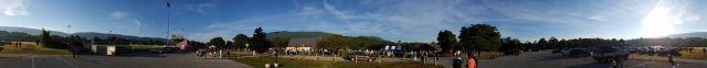 Start line panorama